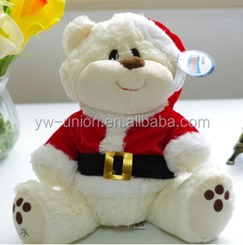 plush chrismas toy 2016 christmas teddy bear gift hot toys for christmas 2014