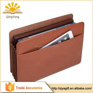 Good quality multifunction PU leather A4 file folder