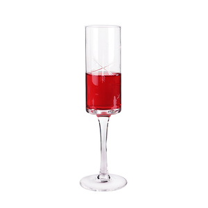 W129 New Fashion 100% Full Inspection CustomLogo Square Bottom Wine Glass