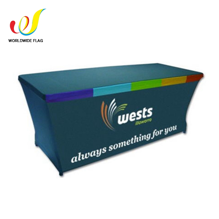 Wholesale Trade Show Elastic Commercial Custom Spandex Table Cloth For Event