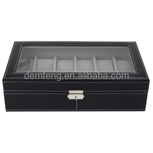 Customized watch display box leather watch case multi-function display case