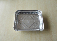 Safety One-off aluminium foil container/tray for food packing