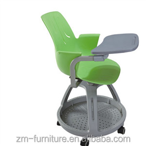 plastic study chair training room chair with writing tablet