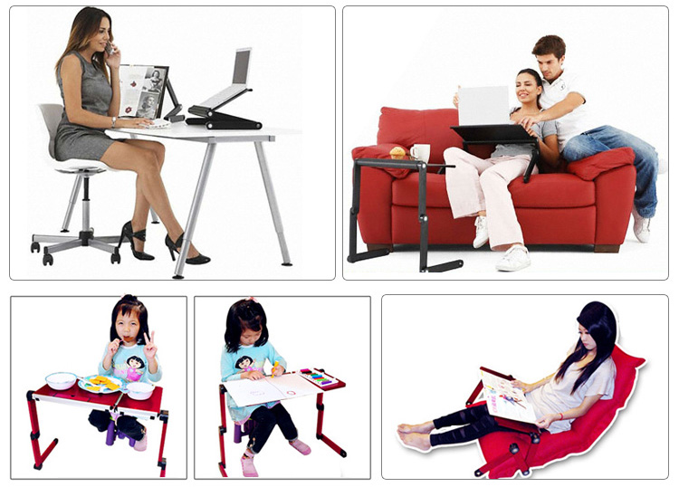 2019 New Modern Portable Adjustable Laptop Stand Notebook Table