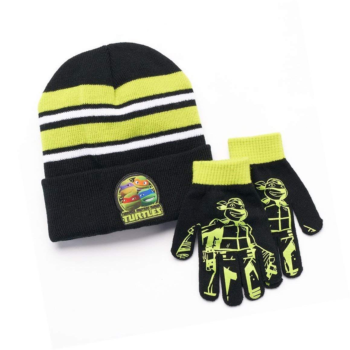 Get Quotations · Teenage Mutant Ninja Turtles TMNT Boys Winter Beanie Hat    Gloves Set a161cb3e518