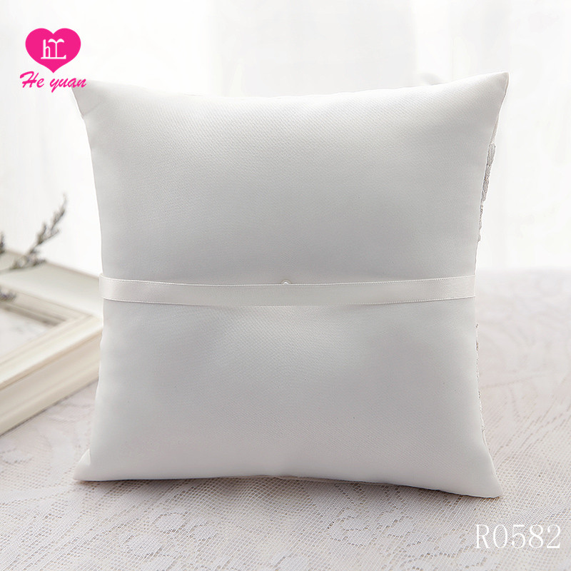 R0582 Wedding Ring Pillow Design Your Own White ivory ring pillow