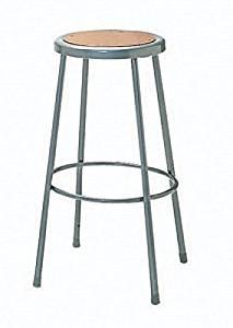 "Height Adjustable Steel Hardboard Seat Stool Size: 27"" H x 16"" W x 8"" D"