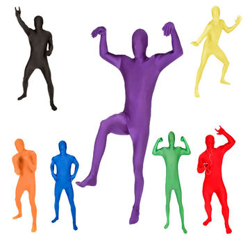 Unisex lycra spandex cosplay halloween carnival party costume zentai catsuit for adult man and women