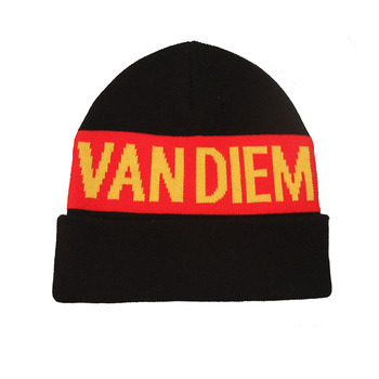 Fashionable funny winter knitted black red beanie warm knit beanies hats  for adult 9e610a3fa55