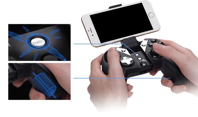 Gamesir G4/G4s Bluetooth 4.0 Nirkabel/Kabel Gamepad Game Controller Kapasitas 800 MAh untuk Ios Android PC PS3