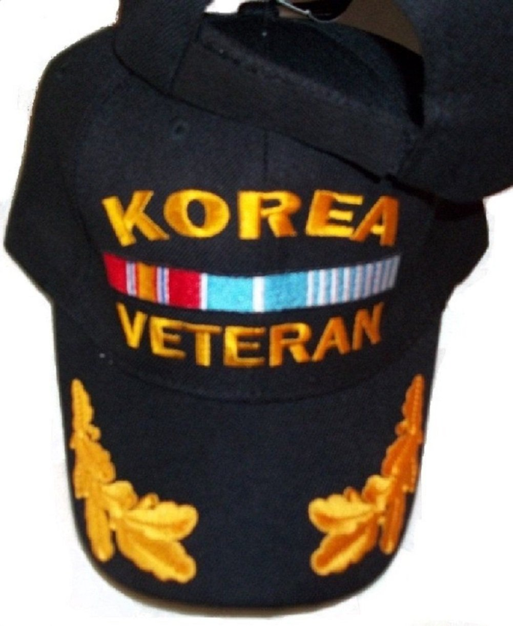 Black Korea Korean War Veteran Scrambled Eggs Feather style Baseball Hat Cap