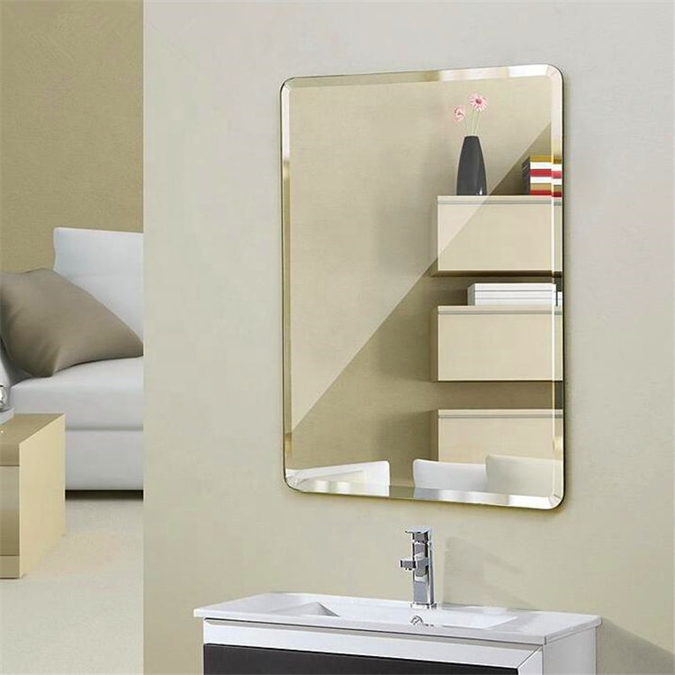กระจกผนังกระจกที่ทันสมัยติด 4mm บนกระจกติดผนังเพชรรูป