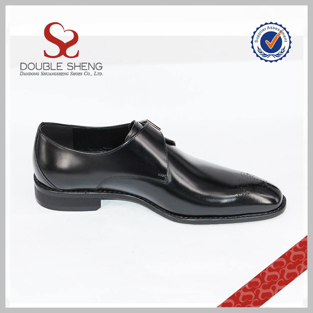 for leather Fashion shoes strap men formal monk footwear single genuine zzBqY1