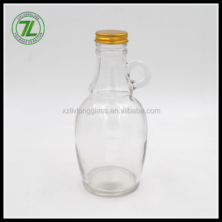 550ml flint wine growler glass jug with ring handle