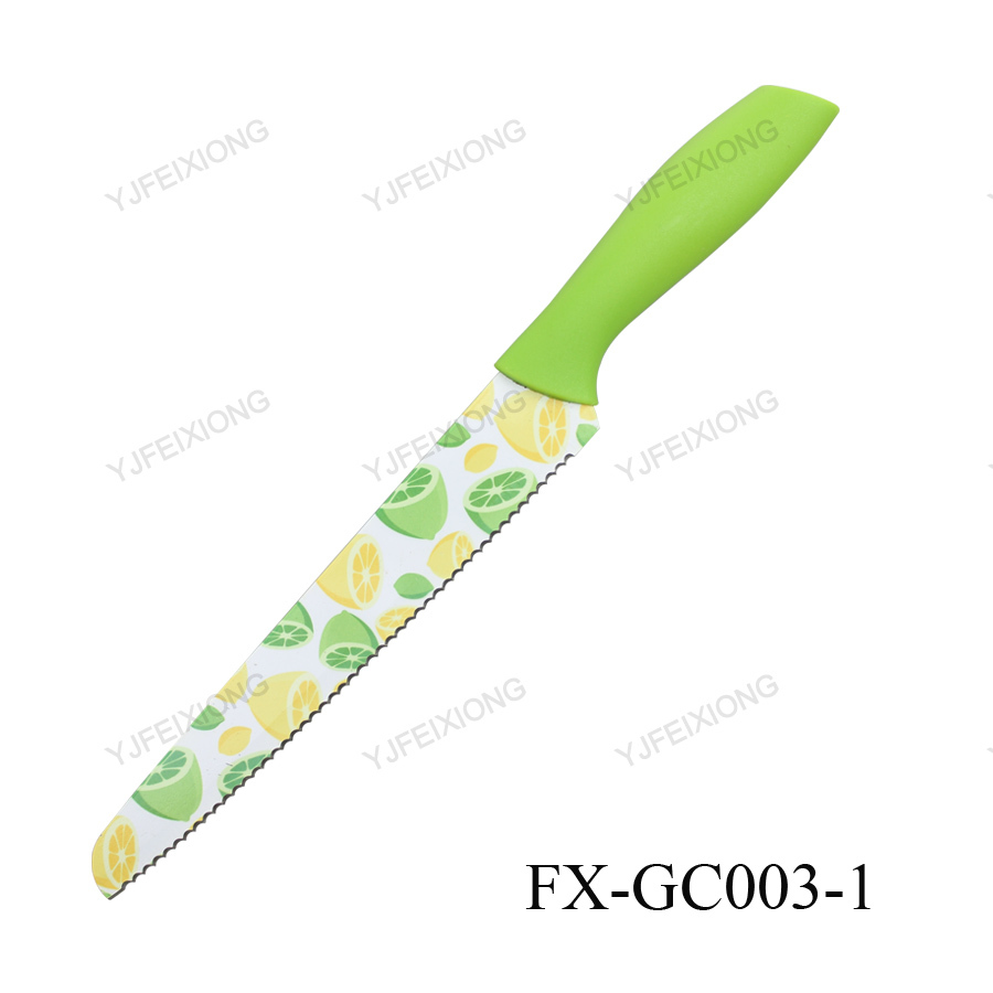 GC003-1 PP handle ceramic Kitchen bread knives