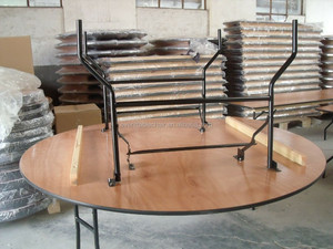round dinner panel wood folding table