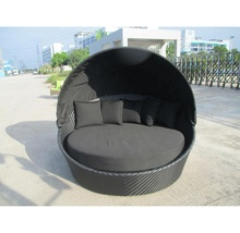 Rotan Outdoor Ronde Zonnebank Ronde Lounge Suite Zon <span class=keywords><strong>Bed</strong></span> <span class=keywords><strong>Strand</strong></span> Luxe Rotan Ligstoel Ronde Lounge <span class=keywords><strong>Bed</strong></span>