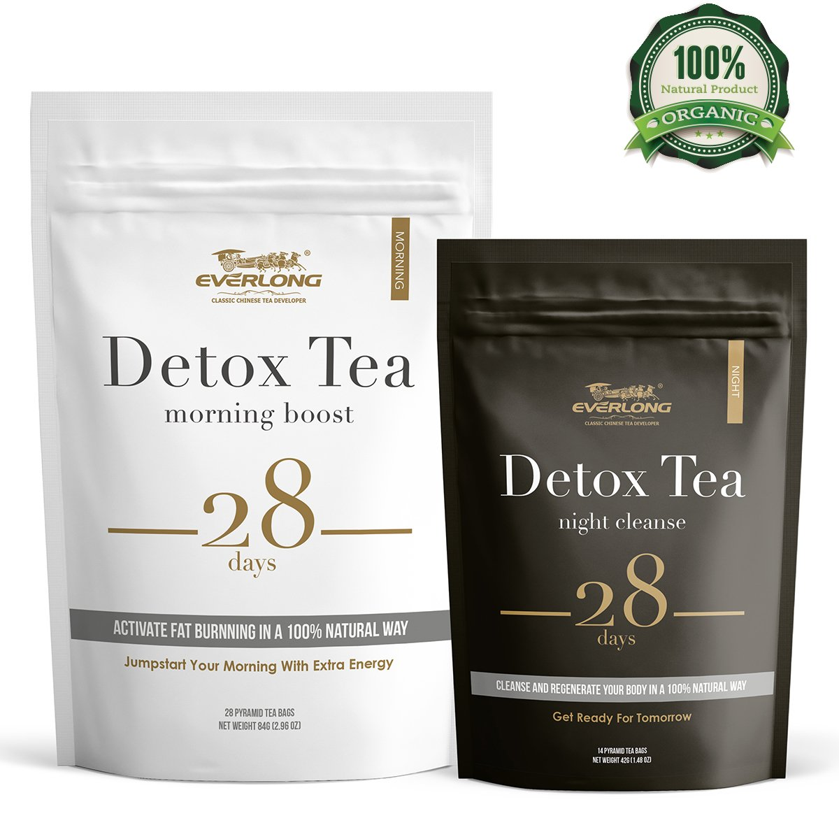 Detox Tea 28 Day Ultimate Teatox - Burn Fat and Boost Your Energy, Colon Cleanse and Flat Tummy, Restore Your Body Natural Balance and Accelerate Weigh Loss - Easy Brewing and Taste Delicious