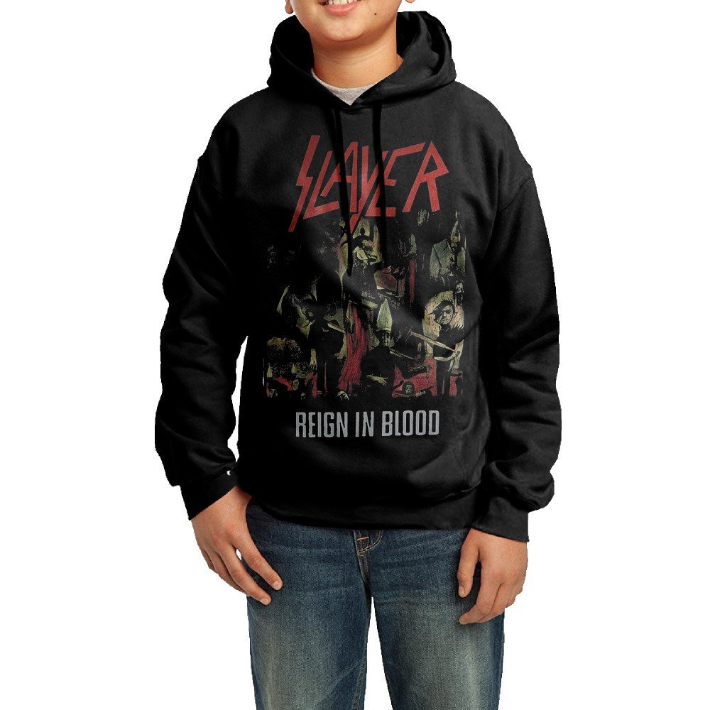 Proro Slayer - Reign In Blood T-Shirt Long Sleeve Round Neck Warm Sweatshirts Hood For Teenager