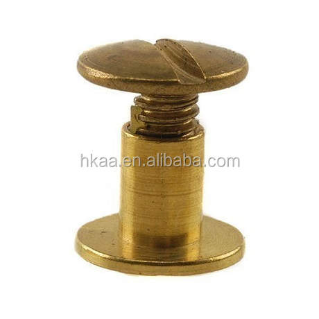 CNC machined dome head cap brass chicago screws
