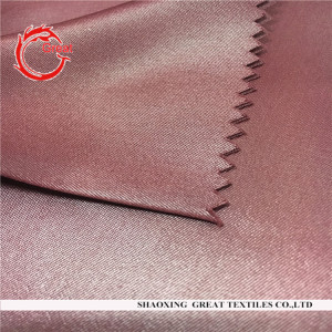 100% polyester peach skin shining fabric
