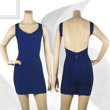 Сексуальное мини-платье с открытой спинкой, красное, черное, белое, желтое, синее платье на бретельках, платье знаменитостей для вечеринок и ...(Китай)