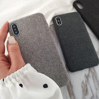 2018 Popular Cloth Phone Cover Fabrics Case For iPhone X XS XR Xs Max