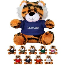 Cute Cartoon arancione farcito <span class=keywords><strong>peluche</strong></span> 6in tigre animale <span class=keywords><strong>di</strong></span> <span class=keywords><strong>peluche</strong></span> con la camicia