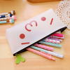 Fashion white silicone Pencil case Pouch 18.5CM Large Capacity Pencil box for students