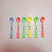 Beer Shape BPA Free Food Grade PP Plastic Reusable Baby Spoon