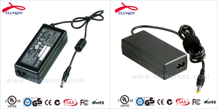 220v 24v 2.5a power supply with UL/CUL GS CE SAA FCC ROHS level VI