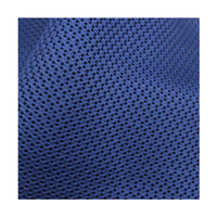 Factory wholesale wide application durable polyester deep blue warp knitted sports shoe mesh fabric for sale