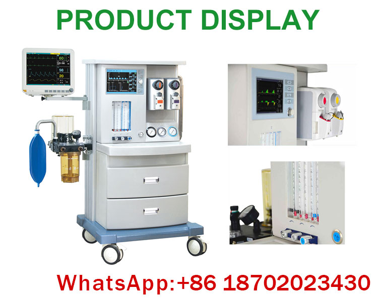 IN-E850 medical ICU CCU anesthesia apparatus with ventilator optional anesthesia machine with patient monitor for operation