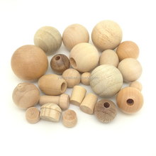 Quality Round Ball Decorations Custom Painted Wooden Bead Craft
