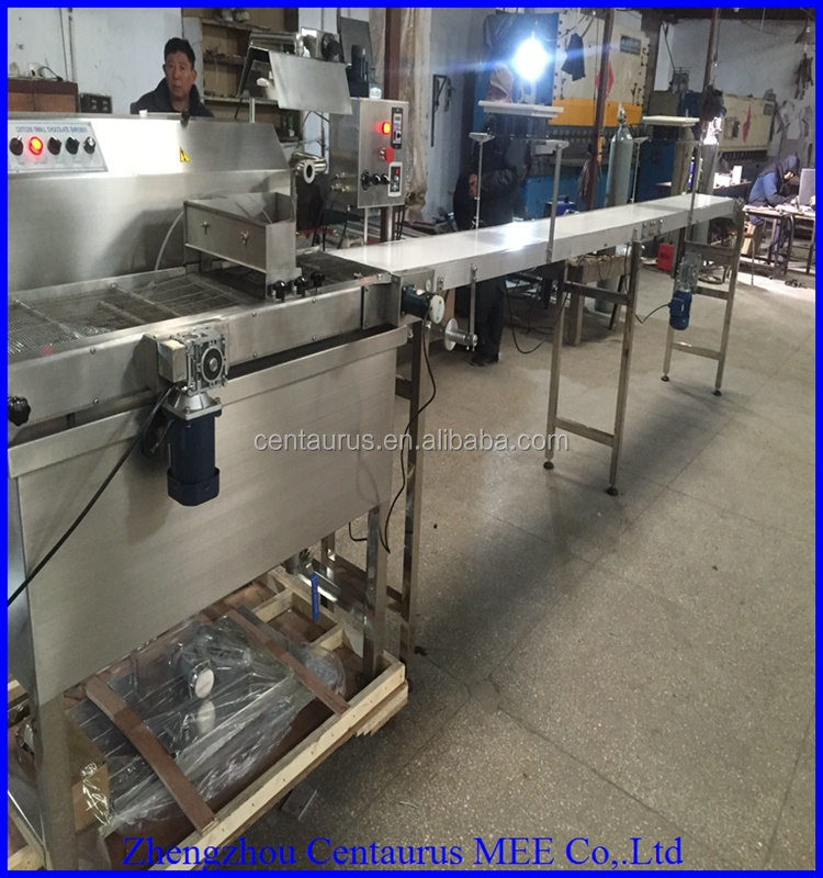 Best price small chocolate enrober/chocolate making machine with high capacity