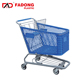 plastic supermarket shopping push cart with metal stand in good quality