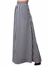 Echoine Femmes Noir Blanc Rayures Adulte Maxi Jupe Taille Haute 2017 Été  Nouvelle Causalité Élastique Taille Jupes 0fe38803495e