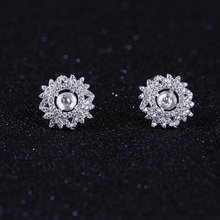Earring Stud/Ring/Pendant Jewelry Findings & Components S925 Silver Set