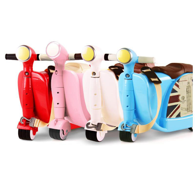 Wholesale custom kids abs plastic smart luggage trolley children mini travel suitcase