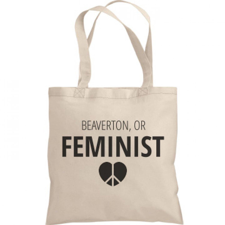 Feminist Beaverton, OR Tote Bag: Liberty Bags Canvas Bargain Tote Bag