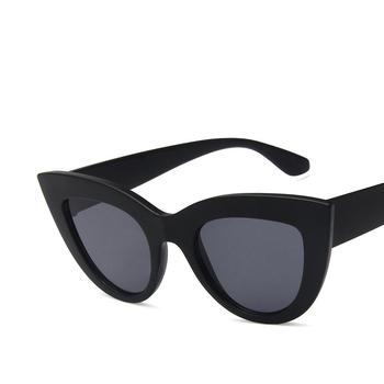 de4237448b4 2018 New Cat Eye Women Sunglasses Tinted Color Lens Men Vintage Shaped Sun  Glasses Female Eyewear