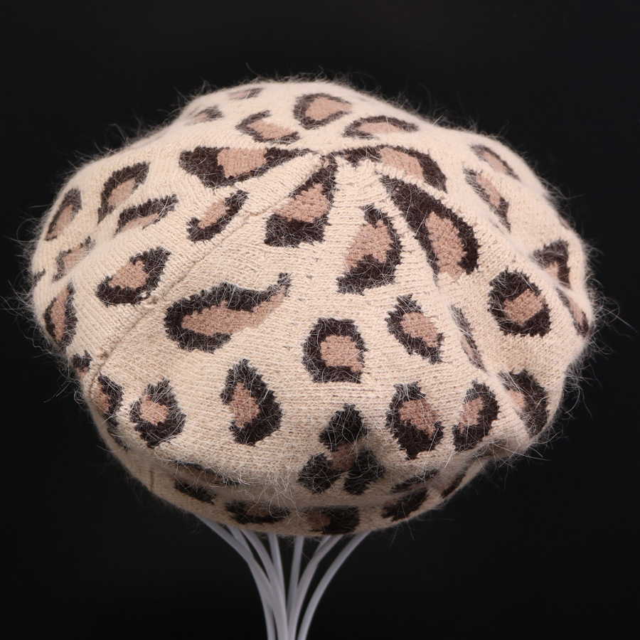 3e9ce9099 New Arrival Fashion Women Hat Sexy Female Winter Wool Leopard Printed Beret  Cap 2 Colors Beanie Hats - Buy Monogram Beanie Hat,Ponytail Beanie ...
