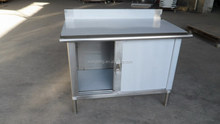 Economical outdoor stainless steel rack tool storage cabinet with backsplash