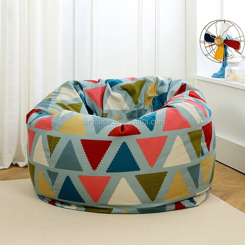 Pleasing Triangle Pattern Bean Bag Chair Extra Large Single Adults Beanbag Lounger Buy Xl Bean Bag Chairs Vinyl Micro Beans Beanbag Chair High Back Adult Unemploymentrelief Wooden Chair Designs For Living Room Unemploymentrelieforg