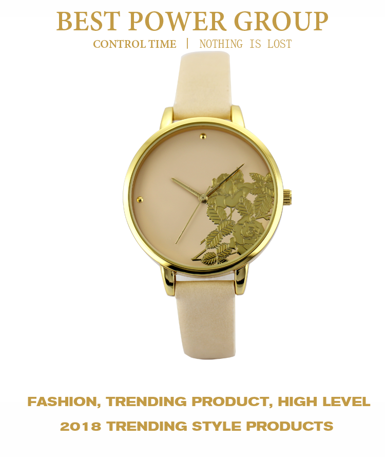 China Factory Wholesale Cheap Custom New Design Floral Lady Fashion Women Wrist Watch