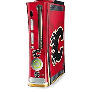 NHL Calgary Flames Xbox 360 (Includes HDD) Skin - Calgary Flames Home Jersey Vinyl Decal Skin For Your Xbox 360 (Includes HDD)
