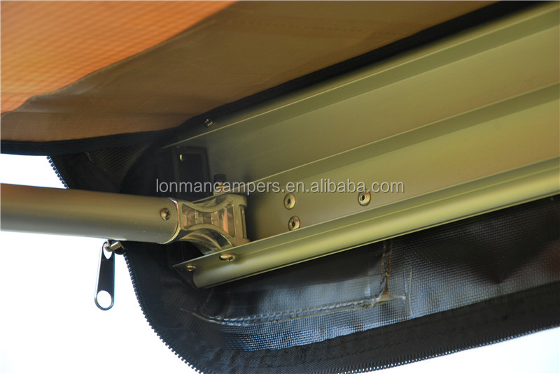 Car roof pull out awning