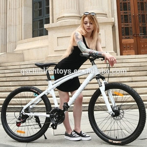 Chinese carbon frames black and white cheap adult bicycle 26er*17 inch folding mountain bikes