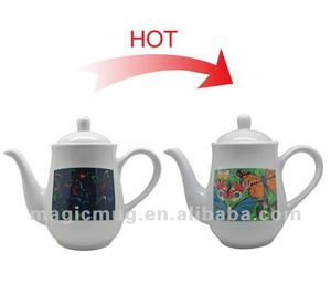 new brand heat sensitive color changing teapot|mugs