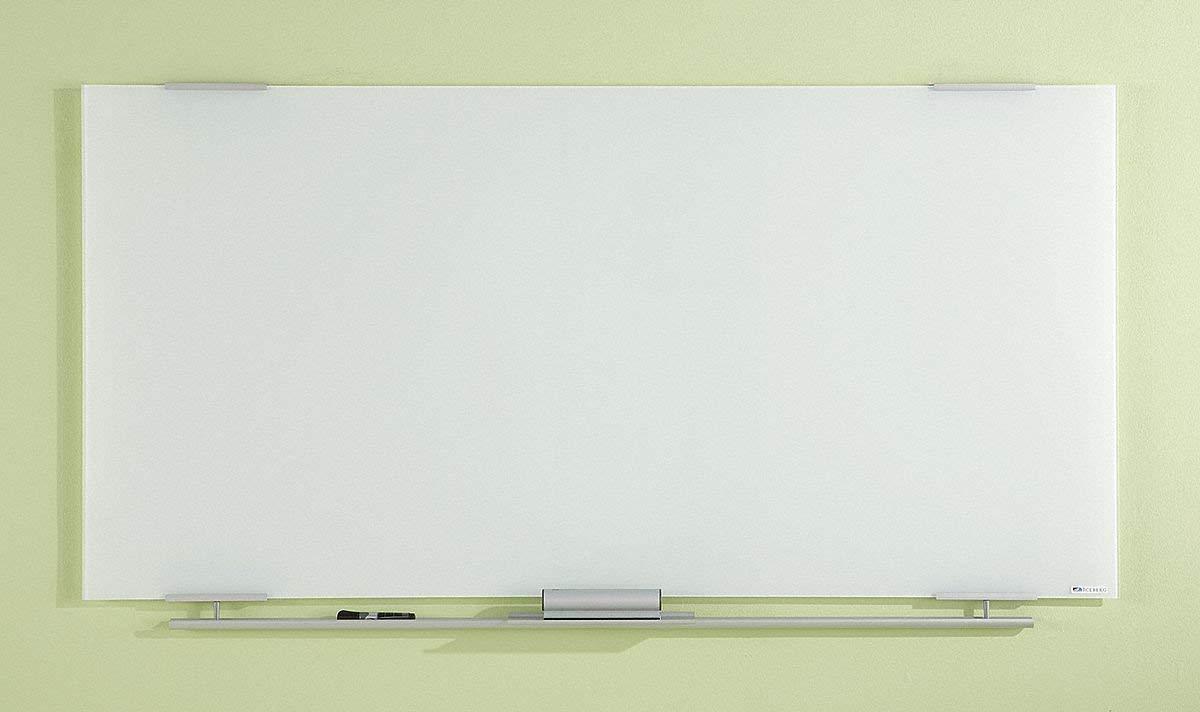 "Iceberg Gloss-Finish Glass Dry Erase Board, Wall Mounted, 36""H x 48""W, Ultra White"